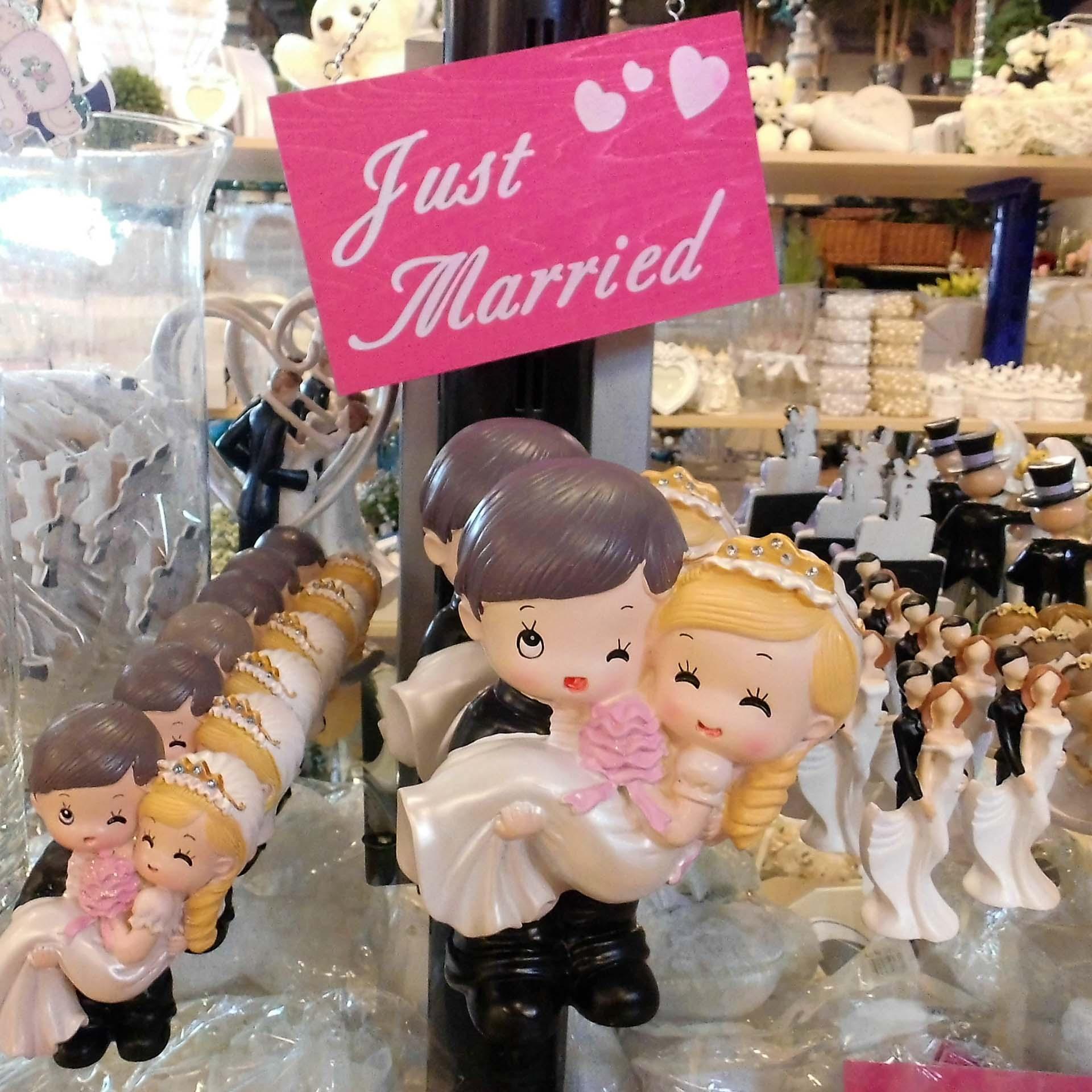 Hochzeitsfiguren aus Poly, Resin und Metall bei Partyzauber Rheine