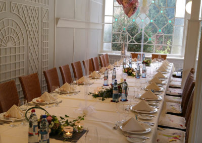 Saalderkoration zur Hochzeit