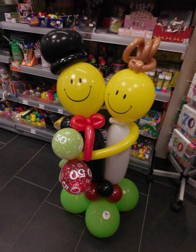 """smiles"" Latexballonfigur | 25€Ballon Figuren, Ballonverpackung, BV, Geld im Ballon, Ballon Figuren"