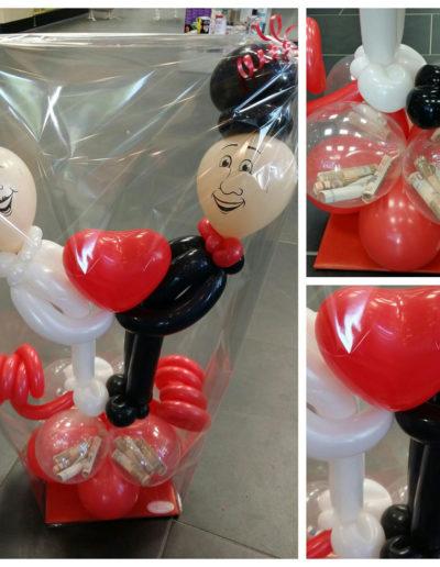 Ballon Figuren, Ballonverpackung, BV, Geld im Ballon, Ballon FigurenGeldverpackung, Tablettverpackung. Geldgeschenke