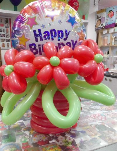 Latexballonblumen mit Folienballon | 28€