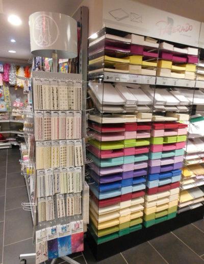 Kartengestaltung und Papierbedarf