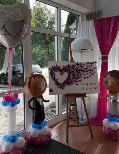 Saaldekoration zur Hochzeit