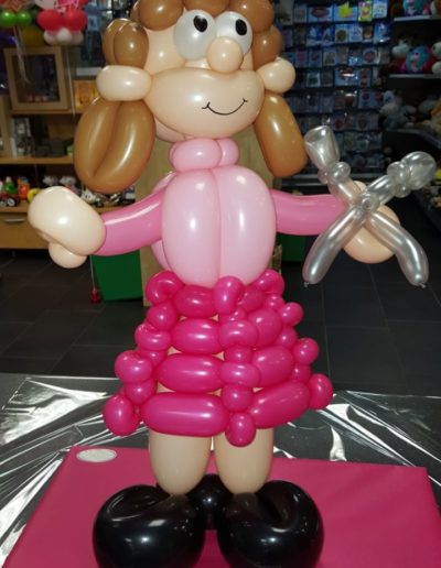 "Ballon Figuren, Ballonverpackung, BV, Geld im Ballon, Ballon Figuren""Frisörin"" Latexballonfigur (60cm) | 25€"
