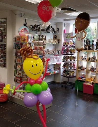 Smiley Latexballonfigur (1,60m) | 25€ Ballon Figuren, Ballonverpackung, BV, Geld im Ballon, Ballon Figuren