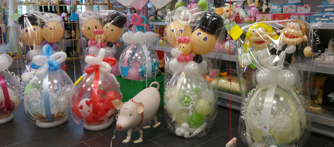 "Ballon Figuren, Ballonverpackung, BV, Geld im Ballon, Ballon Figuren""Bubipaar"" Verpackungsballons"
