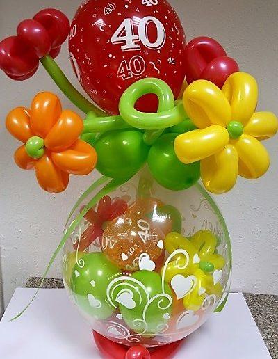 Verpackungsballon mit Blumen |34€