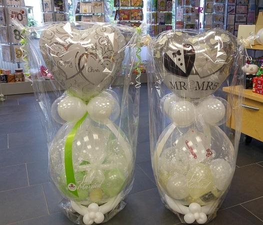 Verpackungsballon mit Folienballonherz | 25€