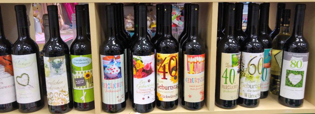 Weinflaschen als Geschenk