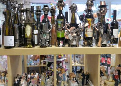 Schraubenmännchen, Metallfiguren, Weinflaschenhalter