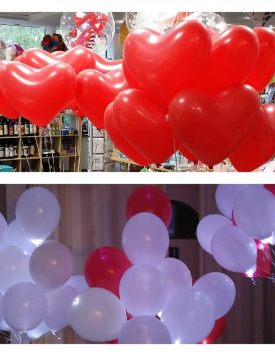 Herzballons (Latex), LED Ballons (Latex)