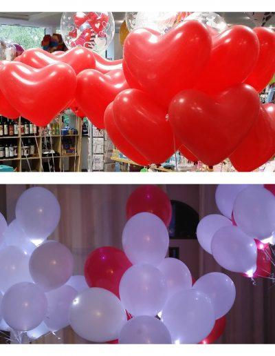 Herzballons (Latex), LED Ballons (Latex)