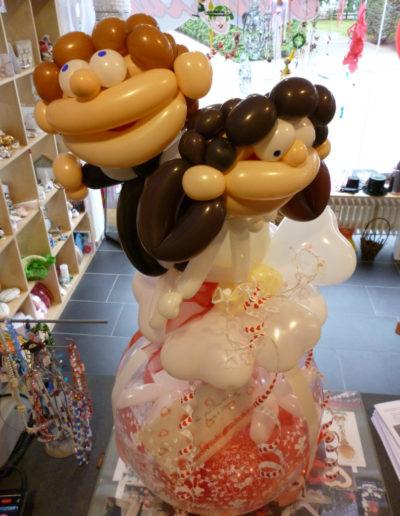 """Ernie-Brautpaar"" Latexfigur auf Verp.Ballon | 34€"
