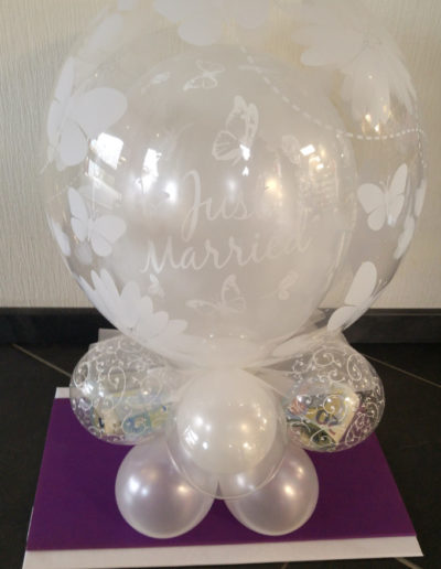 """Just Married"" DoubleBubble mit Balloncluster 