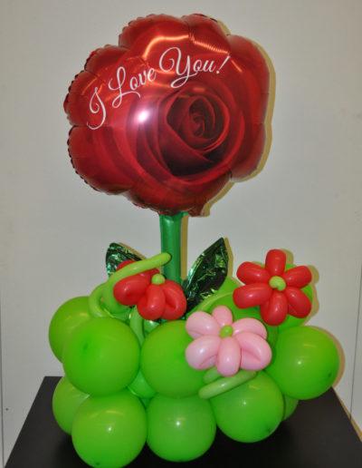 Folienrose auf Latexballons | 28€