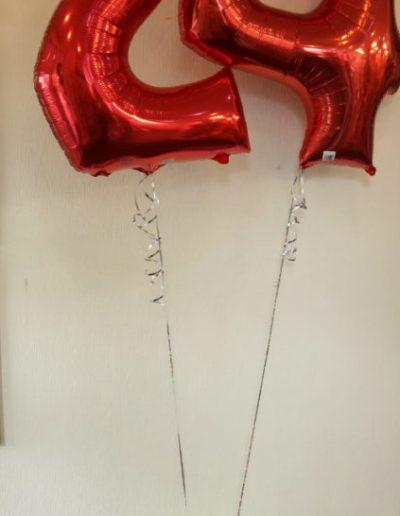 Zahl (Folienballon) | als Bukette 38€