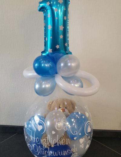 Verpackungsballon mit 30cm MiniZahl Folienballon) | 25€