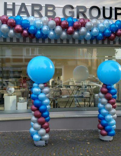 Latexballongirlande und Ballonsäulen