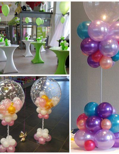Aufsteller Latexballons und Bubbles