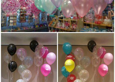Latexballons, hier Konfetti, 30cm. 40cm etc.