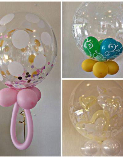 Konfetti Decobubbles und Double Bubbles | je 28€