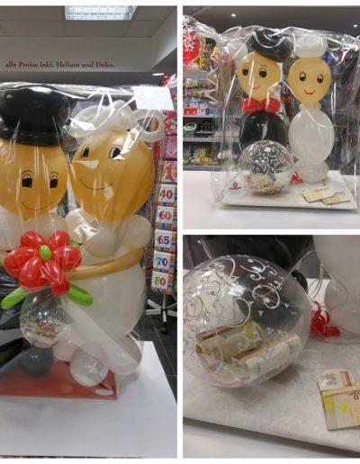 "Ballon Figuren, Ballonverpackung, BV, Geld im Ballon, Ballon Figuren ""Bubipaar"" Latexballonfigur (90cm) | 30€"