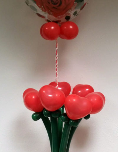 DekoBubble mit Blumenstrauß (Latexballonfigur) | 45€