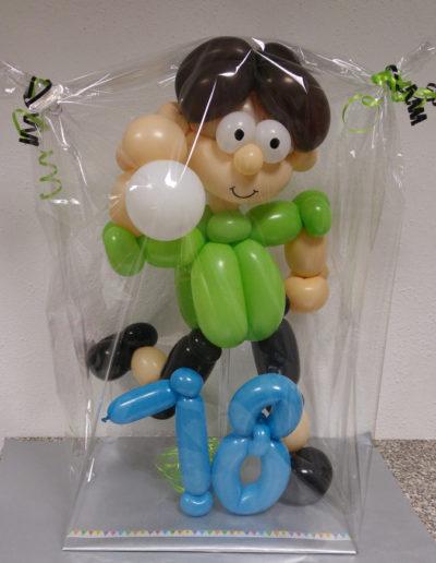 """""""Fußballer"""" LatexballonfigurBallon Figuren, Ballonverpackung, BV, Geld im Ballon, Ballon Figuren"""