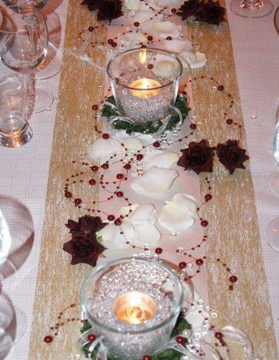 Tischdekoration mit Tüll und Organza