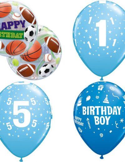 Latexballons mit Druck in Zahl und Motto. 3,50€ pro Ballon mit Helium befüllt