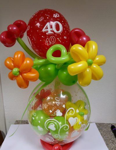 Ballonverpackung Blumenwiese 34€