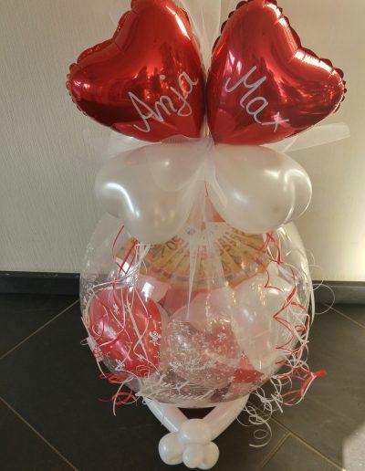Geld im Ballon 28€ Plus Schrift