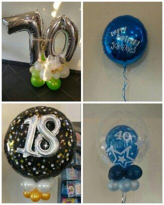 Folienballons zu einem ZahlenGeburtstag
