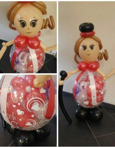Ballonfigur als Geldverpackung 28€