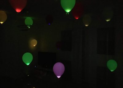 LED Ballons in bunt