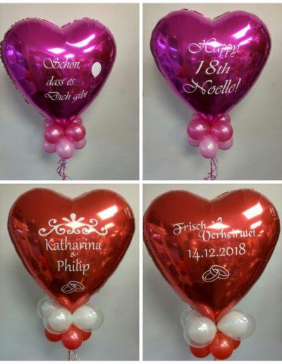 Ballons mit einer persönlichen Botschaft, 5€ je Seite
