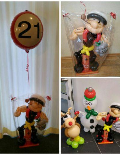 Geldgeschenke zu einem Thema, Figur zu einem Motto. 28€ plus Folienballon oben