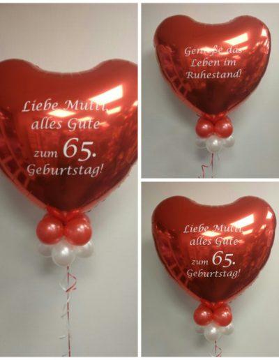 Ballons mit einer persönlichen Botschaft