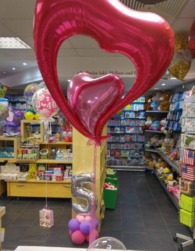 Ballongeschenk, Liebe, Valentin