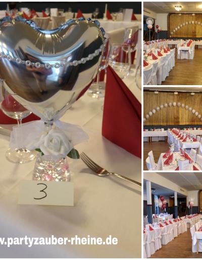 Raumdekoration mit Ballons 15€ je Tisch
