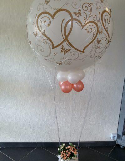 90cm Ballon als Heisluftballon, 31€ plus Netz, plus Korb