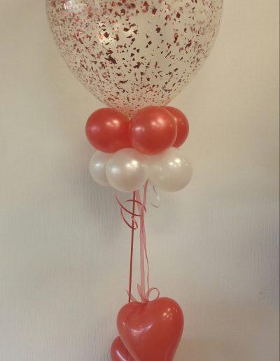 Latexballon mit Konfetti 40cm 15€ gesamt