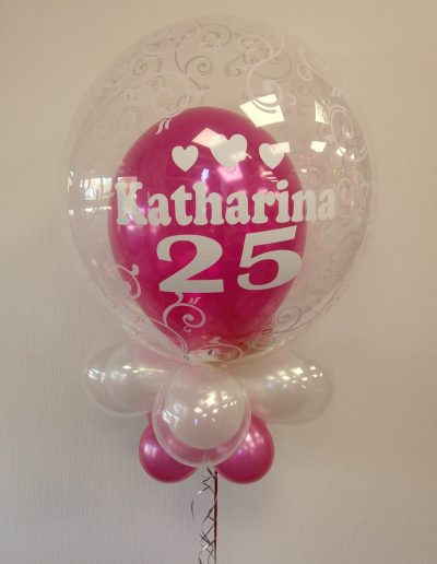 LuftballonGeschenk DecoBubble mit Geldfüllung und Botschaft 34€ mit Gewicht