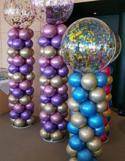 Ballonsäulen als Raumdekoration 40€ pro Meter