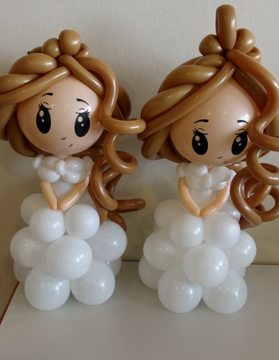 Ballonfiguren Mädel von Jecky 25€ je Figur, in 60cm hoch plus 2€ Folienverpackung.