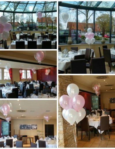 Raumdekoration mit Folien- und Latexballons