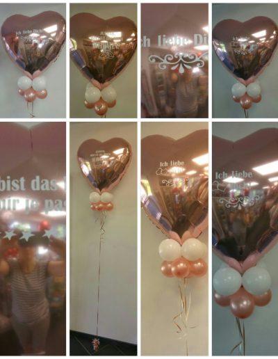FolienBallons mit einer Botschaft