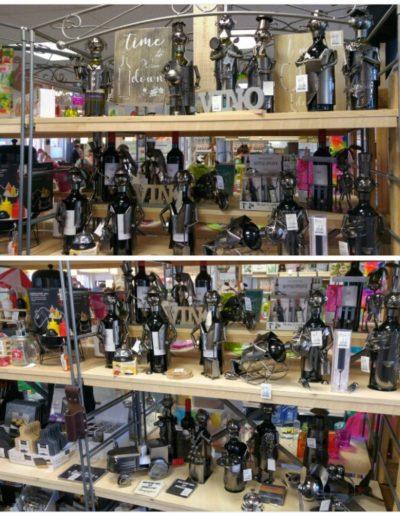 MetallFiguren als WeinFlaschen Halter, zu einem Motto