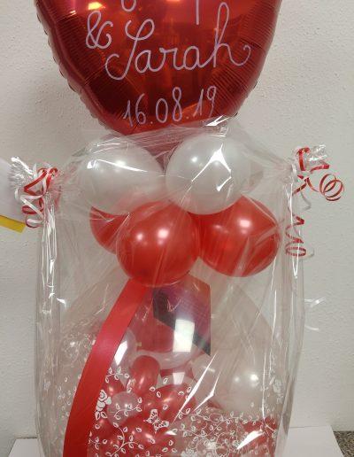 Ballonverpackung, 25€ plus Schrift. 28€
