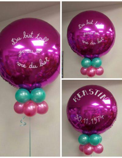 Folienballon 71cm. 15€ je Ballon plus pers. Botschaft 5€ je Seite
